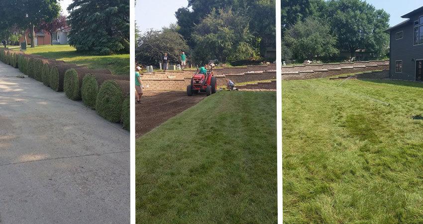 Lawn Installation in Northwest Iowa